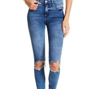 🆕 Free People High Rise Busted Knee Skinny Jeans